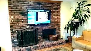 mount tv on brick how