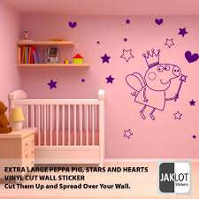 Peppa Pig Bedroom Peppa Pig Fairy Stars Heats Vinyl Wall Sticker Decal Extra Large