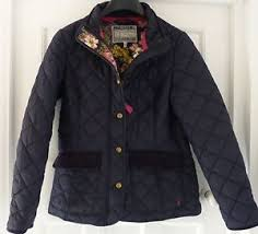 Joules Moredale quilted jacket size 14 Navy with floral lining ... & ... Joules-Moredale-quilted-jacket-size-14-Navy-with- Adamdwight.com