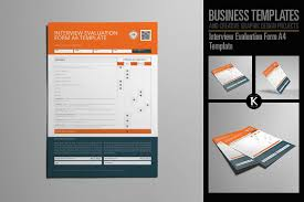Graphic Design Evaluation Template Interview Evaluation Form A4 Templates Evaluation