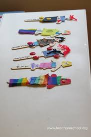 Daily Attendance With Individual Stick Puppets Teach Preschool