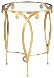 gold end table. Gold And Glass End Table Fabulous Round Tables Top