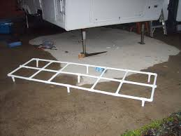 frame for support on the slideout awning to keep it from