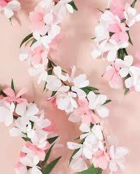 White Paper Flower Garland Paper Flower Garland Martha Stewart