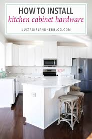 How To Install Kitchen Cabinet Hardware Stunning Installing Knobs On Kitchen Cabinets