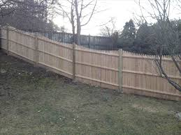 privacy fence on a hill fence building build a on sloped ground backyard rhcom gallery geo
