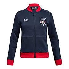 Amazon Com Under Armour Girls Usa Warm Up Jacket Clothing