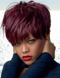 Short Red Hairstyles 93 Best The Section Of Rihanna Wigs At Aliwigs