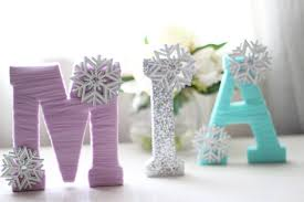 image of custom wood letters frozen
