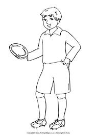 Small Picture View And Print Boy Rugby Colouring Page Pdf File Boy Coloring