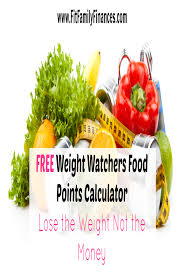 free weight watchers food points calculator