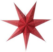 Led Weihnachtsstern 70cm Adventsstern Leuchtstern Papierstern Deko Lichterkette Farberot