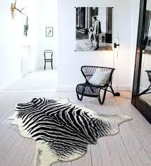 zebra cowhide rug faux small