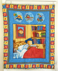 Paddington Bear Quilt. Here he is sitting up in bed surrounded by ... & Paddington Bear Quilt. Here he is sitting up in bed surrounded by books. The Adamdwight.com