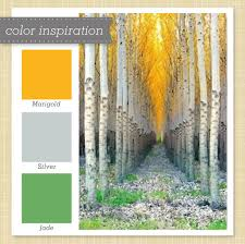 Gold, Gray and Green Color Palette