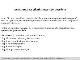 Restaurant Job Descriptions Resume
