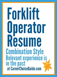 Sample Resume For Forklift Driver Warehouse Production Resume Heavy