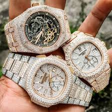 the holy trinity of bust down icy beasts ap rolex patek which is your favorite ment below dm for pricing