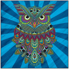 Owls Adult Coloring Book With Relaxation Cd Color With Music