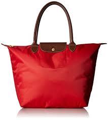 longch large le pliage tote shoulder bag red