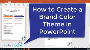 Theme For Powerpoint 2007 How To Create A Custom Theme In Powerpoint For Branding