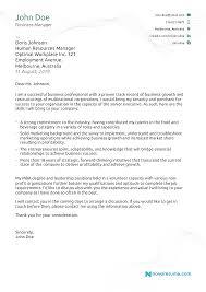 cover letter exle for management job application