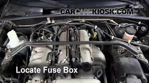 blown fuse check 1990 1997 mazda miata 1993 mazda miata 1 6l 4 cyl 91 Miata Fuse Box Diagram locate engine fuse box and remove cover 1991 miata fuse box diagram