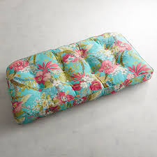 Contour Settee Cushion In Isla Tropical Turquoise