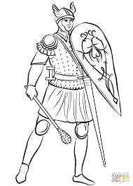 Small Picture Medieval Soldier with Mace coloring page Free Printable Coloring