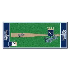 fanmats kansas city royals 3 ft x 6 ft baseball runner rug