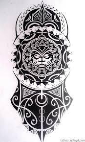тату эскиз полинезия на руку с изображёны в этом стиле лицом