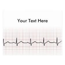 Ekg Heartbeat On Graph Paper Phd Doctor Pulse Postcard Zazzle Com