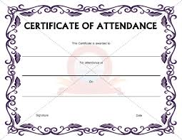 Free Printable Perfect Attendance Certificate Template Stunning Best Photos Of Certificate Of Attendance Template Word Attendance