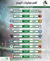 مواعيد و معلقين مباريات اليوم السبت 29-8-2020 والمعلقون والقنوات الناقلة -  التيار الاخضر