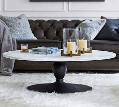 chapman 52 marble oval coffee table