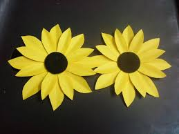 Chart Paper Flower Making How To Make A Paper Flower Tutorial Sunflower Paper Crafts Youtube