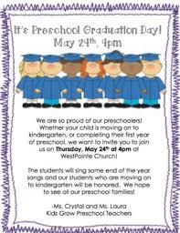 Preschool Graduation Announcements Preschool Graduation Invitation