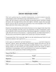 Artwork Release Form ArtistArtwork Release Form Release Forms Release Forms 1