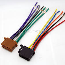 universal male iso radio wire cable wiring harness car stereo item specifics