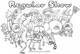 Printable Cartoon Network Regular Show Coloring Pages Printable