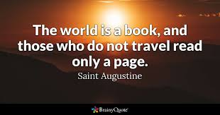 Quote Book Cool The World Is A Book And Those Who Do Not Travel Read Only A Page