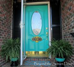 turquoise front doorIgnore everything else about this picture but the turquoise door