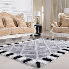 black bedroom rug. Modern Minimalist Living Room Carpet Thickened Bedroom Rug Continental Black And White Checkered Sofa Rugs O
