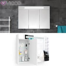 Badezimmer Spiegelschrank In Weiß 90cm Led Badspiegel