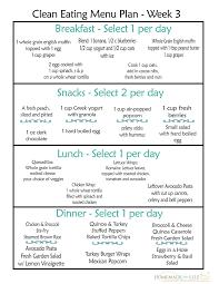 Clean Eating Meal Plan 100 Free Includes Breakfast
