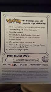 Pokemon ultra moon mystery gift codes 2019. Pokemon ultra moon mystery gift  codes 2020