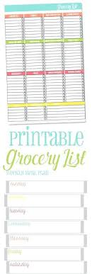 Grocery Store List Template Weekly Shopping Meal Plan And Lccorp Co