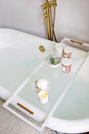Bathtub Tray Lucite Bathtub Caddy Diy A Beautiful Mess
