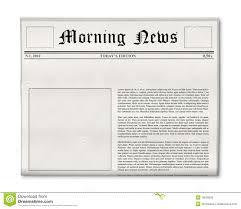 Blank Newspaper Ad Template Newspaper Headline And Photo Template Stock Image Image Of