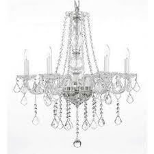 empress crystal 5 light clear chandelier